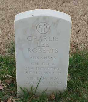 ROBERTS  (VETERAN WWII), CHARLIE LEE - Pulaski County, Arkansas | CHARLIE LEE ROBERTS  (VETERAN WWII) - Arkansas Gravestone Photos