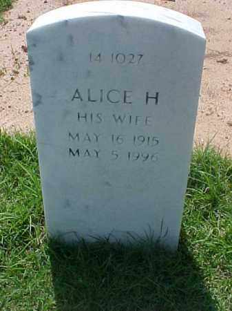 ROBERTS, ALICE H - Pulaski County, Arkansas   ALICE H ROBERTS - Arkansas Gravestone Photos