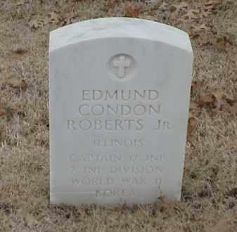 ROBERTS, JR  (VETERAN 2 WARS), EDMUND CONDON - Pulaski County, Arkansas   EDMUND CONDON ROBERTS, JR  (VETERAN 2 WARS) - Arkansas Gravestone Photos