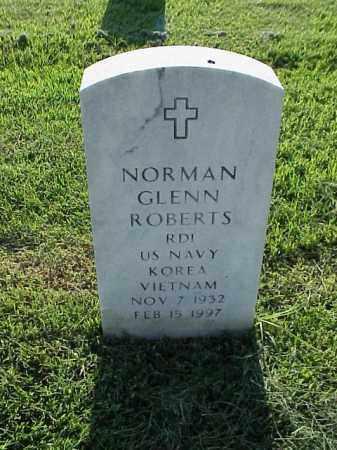 ROBERTS (VETERAN 2 WARS), NORMAN GLENN - Pulaski County, Arkansas | NORMAN GLENN ROBERTS (VETERAN 2 WARS) - Arkansas Gravestone Photos
