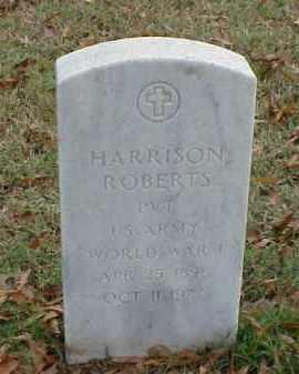 ROBERTS (VETERAN WWI), HARRISON - Pulaski County, Arkansas   HARRISON ROBERTS (VETERAN WWI) - Arkansas Gravestone Photos