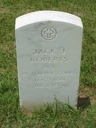 ROBERTS (VETERAN WWI), JACK JOHN - Pulaski County, Arkansas | JACK JOHN ROBERTS (VETERAN WWI) - Arkansas Gravestone Photos