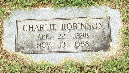ROBINSON, CHARLIE - Pulaski County, Arkansas   CHARLIE ROBINSON - Arkansas Gravestone Photos