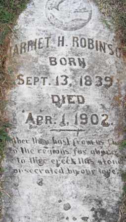 ROBINSON, HARRIET H - Pulaski County, Arkansas   HARRIET H ROBINSON - Arkansas Gravestone Photos