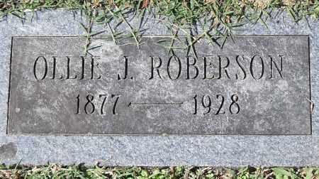 ROBINSON, OLLIE J. - Pulaski County, Arkansas   OLLIE J. ROBINSON - Arkansas Gravestone Photos