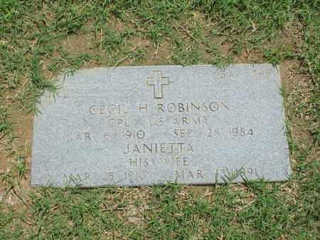 ROBINSON, JANIETTA - Pulaski County, Arkansas   JANIETTA ROBINSON - Arkansas Gravestone Photos