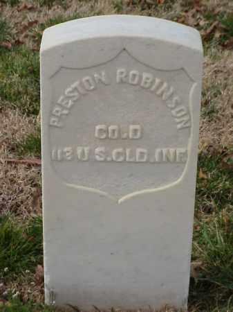 ROBINSON (VETERAN UNION), PRESTON - Pulaski County, Arkansas | PRESTON ROBINSON (VETERAN UNION) - Arkansas Gravestone Photos