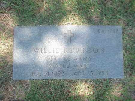 ROBINSON (VETERAN WWI), WILLIE - Pulaski County, Arkansas | WILLIE ROBINSON (VETERAN WWI) - Arkansas Gravestone Photos