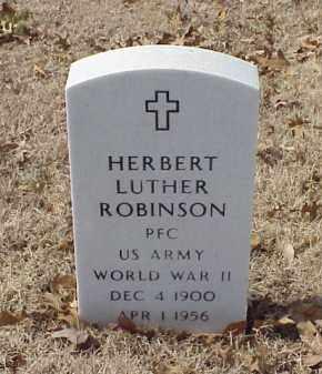 ROBINSON (VETERAN WWII), HERBERT LUTHER - Pulaski County, Arkansas | HERBERT LUTHER ROBINSON (VETERAN WWII) - Arkansas Gravestone Photos