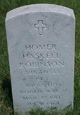 ROBINSON (VETERAN WWII), HOMER HASKELL - Pulaski County, Arkansas | HOMER HASKELL ROBINSON (VETERAN WWII) - Arkansas Gravestone Photos