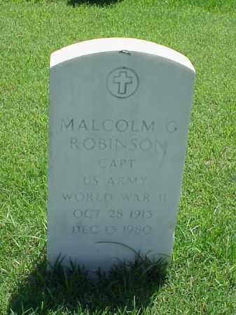 ROBINSON (VETERAN WWII), MALCOLM G - Pulaski County, Arkansas | MALCOLM G ROBINSON (VETERAN WWII) - Arkansas Gravestone Photos