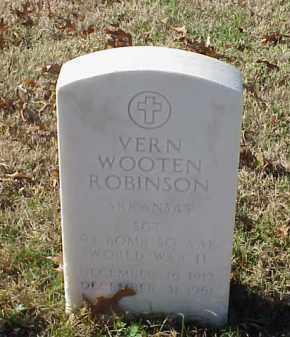 ROBINSON (VETERAN WWII), VERN WOOTEN - Pulaski County, Arkansas | VERN WOOTEN ROBINSON (VETERAN WWII) - Arkansas Gravestone Photos