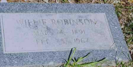 ROBINSON, WILLIE - Pulaski County, Arkansas | WILLIE ROBINSON - Arkansas Gravestone Photos