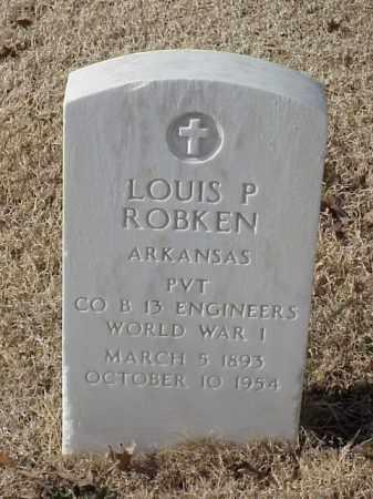 ROBKEN (VETERAN WWI), LOUIS P - Pulaski County, Arkansas | LOUIS P ROBKEN (VETERAN WWI) - Arkansas Gravestone Photos