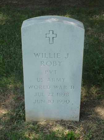 ROBY (VETERAN WWII), WILLIE J - Pulaski County, Arkansas | WILLIE J ROBY (VETERAN WWII) - Arkansas Gravestone Photos