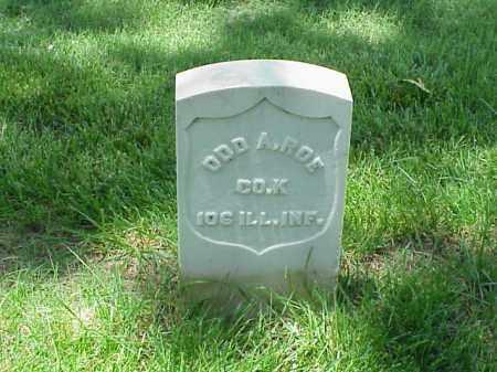 ROE (VETERAN UNION), ODD A - Pulaski County, Arkansas   ODD A ROE (VETERAN UNION) - Arkansas Gravestone Photos
