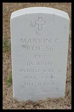 ROE, SR (VETERAN WWII), MARVIN C - Pulaski County, Arkansas | MARVIN C ROE, SR (VETERAN WWII) - Arkansas Gravestone Photos