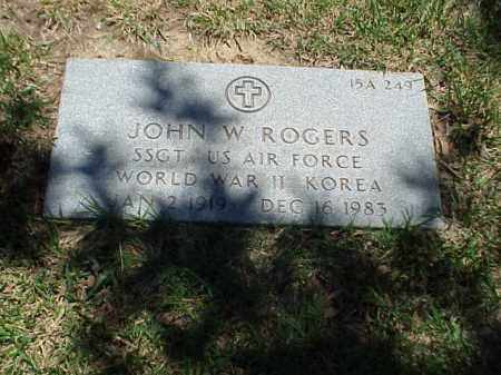 ROGERS (VETERAN 2 WARS), JOHN W - Pulaski County, Arkansas   JOHN W ROGERS (VETERAN 2 WARS) - Arkansas Gravestone Photos