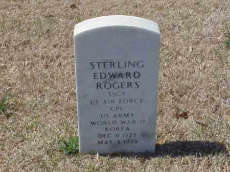 ROGERS (VETERAN 2 WARS), STERLING EDWARD - Pulaski County, Arkansas | STERLING EDWARD ROGERS (VETERAN 2 WARS) - Arkansas Gravestone Photos