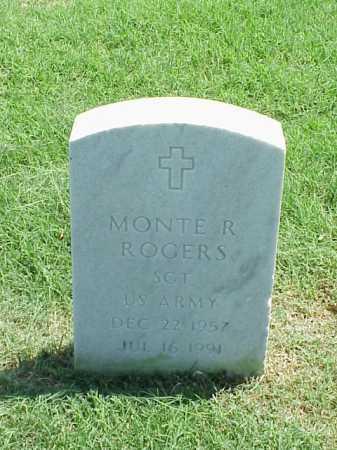 ROGERS (VETERAN), MONTE R - Pulaski County, Arkansas | MONTE R ROGERS (VETERAN) - Arkansas Gravestone Photos