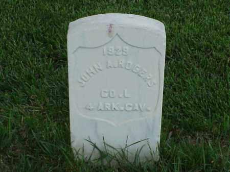 ROGERS (VETERAN UNION), JOHN A - Pulaski County, Arkansas | JOHN A ROGERS (VETERAN UNION) - Arkansas Gravestone Photos