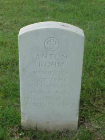 ROHM (VETERAN WWI), ANTON - Pulaski County, Arkansas | ANTON ROHM (VETERAN WWI) - Arkansas Gravestone Photos