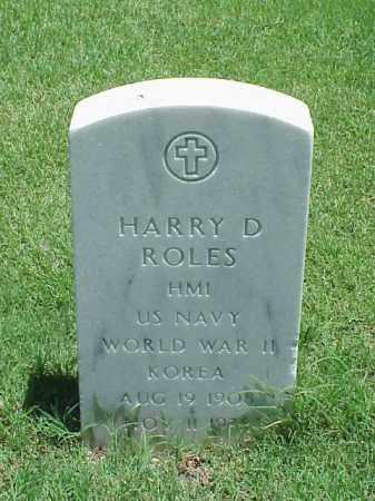 ROLES (VETERAN 2 WARS), HARRY D - Pulaski County, Arkansas   HARRY D ROLES (VETERAN 2 WARS) - Arkansas Gravestone Photos