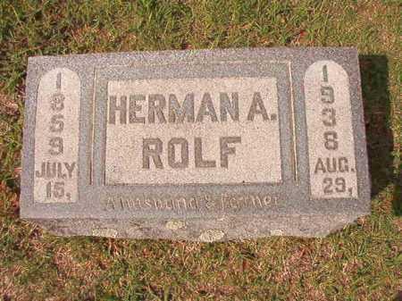ROLF, HERMAN A - Pulaski County, Arkansas | HERMAN A ROLF - Arkansas Gravestone Photos