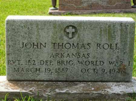 ROLL (VETERAN WWI), JOHN THOMAS - Pulaski County, Arkansas | JOHN THOMAS ROLL (VETERAN WWI) - Arkansas Gravestone Photos