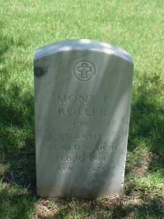 ROLLER (VETERAN WWII), MONT F - Pulaski County, Arkansas | MONT F ROLLER (VETERAN WWII) - Arkansas Gravestone Photos
