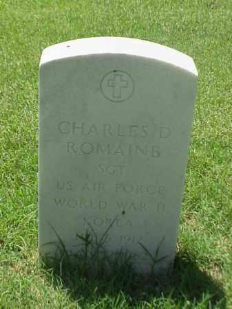 ROMAINE (VETERAN 3 WARS), CHARLES D - Pulaski County, Arkansas | CHARLES D ROMAINE (VETERAN 3 WARS) - Arkansas Gravestone Photos