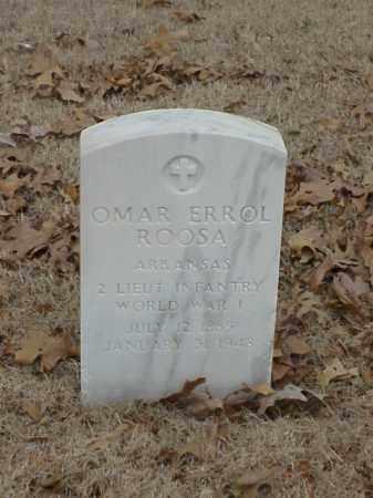 ROOSA (VETERAN WWI), OMAR ERROL - Pulaski County, Arkansas   OMAR ERROL ROOSA (VETERAN WWI) - Arkansas Gravestone Photos