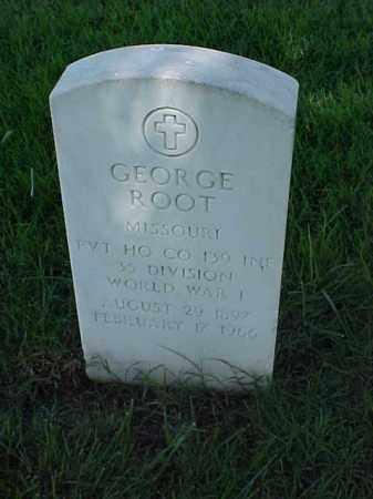 ROOT (VETERAN WWI), GEORGE - Pulaski County, Arkansas | GEORGE ROOT (VETERAN WWI) - Arkansas Gravestone Photos