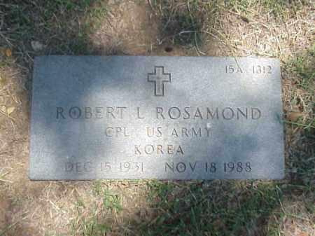 ROSAMOND (VETERAN KOR), ROBERT L - Pulaski County, Arkansas | ROBERT L ROSAMOND (VETERAN KOR) - Arkansas Gravestone Photos