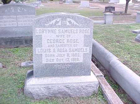 ROSE, LORYNNE - Pulaski County, Arkansas   LORYNNE ROSE - Arkansas Gravestone Photos
