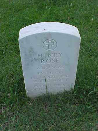ROSE (VETERAN WWI), HENRY - Pulaski County, Arkansas | HENRY ROSE (VETERAN WWI) - Arkansas Gravestone Photos
