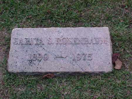 ROSENBAUM, SARITA S - Pulaski County, Arkansas   SARITA S ROSENBAUM - Arkansas Gravestone Photos