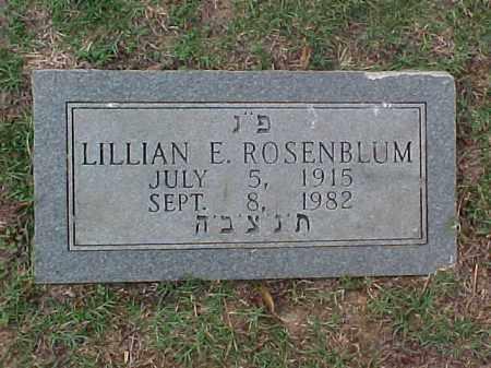 ROSENBLUM, LILLIAN E - Pulaski County, Arkansas   LILLIAN E ROSENBLUM - Arkansas Gravestone Photos