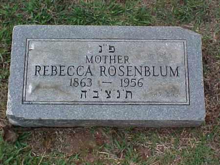 ROSENBLUM, REBECCA - Pulaski County, Arkansas | REBECCA ROSENBLUM - Arkansas Gravestone Photos