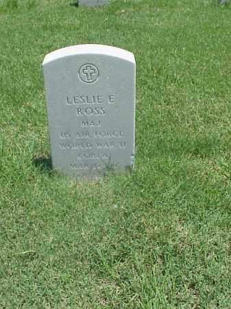 ROSS (VETERAN 2 WARS), LESLIE E - Pulaski County, Arkansas   LESLIE E ROSS (VETERAN 2 WARS) - Arkansas Gravestone Photos