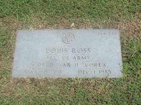ROSS (VETERAN 2 WARS), LOUIS - Pulaski County, Arkansas | LOUIS ROSS (VETERAN 2 WARS) - Arkansas Gravestone Photos