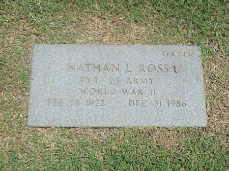 ROSS (VETERAN WWII), NATHAN L - Pulaski County, Arkansas | NATHAN L ROSS (VETERAN WWII) - Arkansas Gravestone Photos