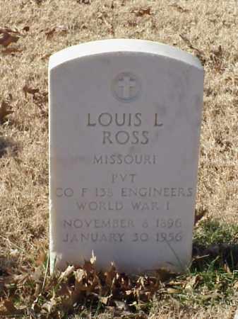 ROSS (VETERAN WWI), LOUIS L - Pulaski County, Arkansas | LOUIS L ROSS (VETERAN WWI) - Arkansas Gravestone Photos