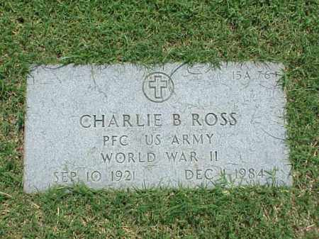 ROSS (VETERAN WWII), CHARLIE B - Pulaski County, Arkansas | CHARLIE B ROSS (VETERAN WWII) - Arkansas Gravestone Photos