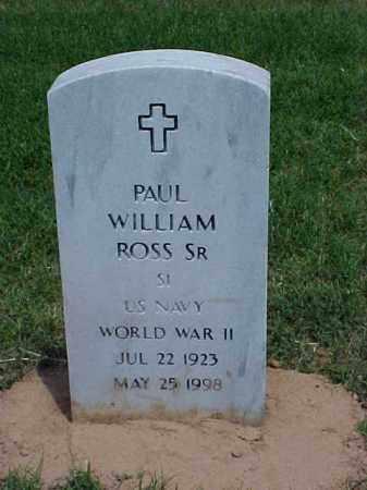 ROSS, SR (VETERAN WWII), PAUL WILLIAM - Pulaski County, Arkansas   PAUL WILLIAM ROSS, SR (VETERAN WWII) - Arkansas Gravestone Photos
