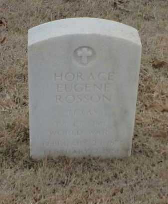 ROSSON  (VETERAN WWI), HORACE EUGENE - Pulaski County, Arkansas | HORACE EUGENE ROSSON  (VETERAN WWI) - Arkansas Gravestone Photos
