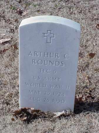 ROUNDS (VETERAN WWII), ARTHUR C - Pulaski County, Arkansas   ARTHUR C ROUNDS (VETERAN WWII) - Arkansas Gravestone Photos