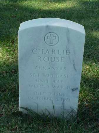 ROUSE (VETERAN WWII), CHARLIE - Pulaski County, Arkansas | CHARLIE ROUSE (VETERAN WWII) - Arkansas Gravestone Photos