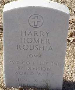 ROUSHIA  (VETERAN WWI), HARRY HOMER - Pulaski County, Arkansas   HARRY HOMER ROUSHIA  (VETERAN WWI) - Arkansas Gravestone Photos