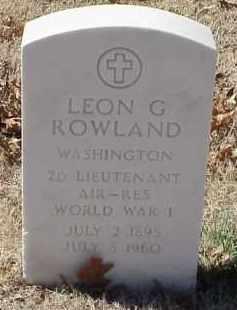 ROWLAND  (VETERAN WWI), LEON GREAVILLE - Pulaski County, Arkansas | LEON GREAVILLE ROWLAND  (VETERAN WWI) - Arkansas Gravestone Photos